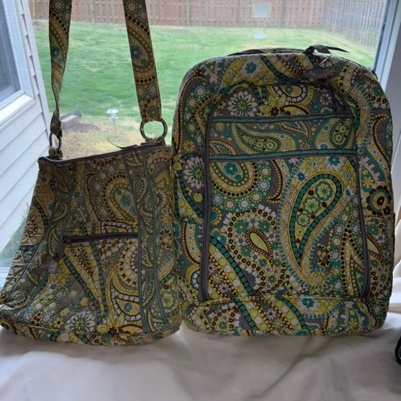 Vera Bradley campus backpack and cross body